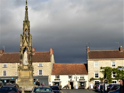 Helmsley - Market Square before the storm