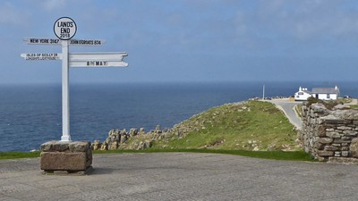 Land's End Sign Post