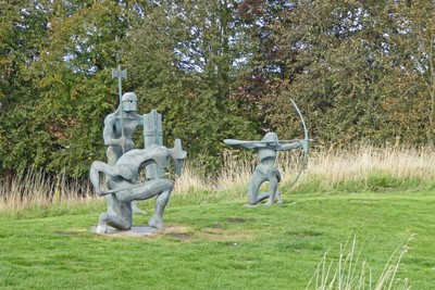 The Swordsman, The Warrior and The Archer by Malcolm Brocklesby