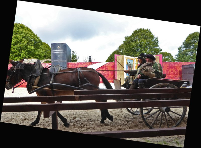 Château Chambord Equestrian Show, The Market Wagon Chapter
