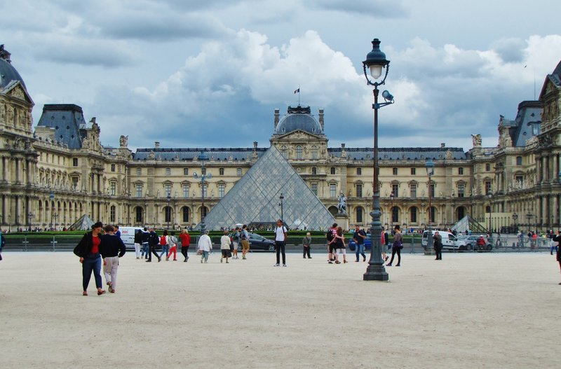Pei Pyramid at the Louvre Museum