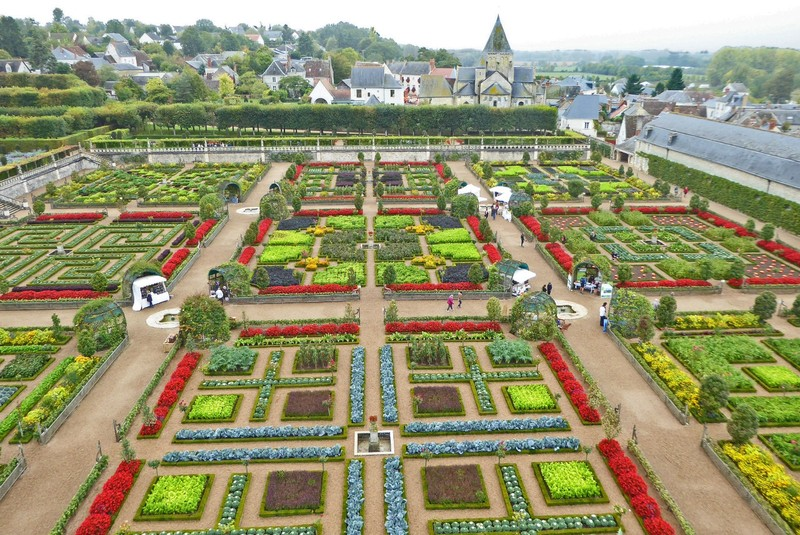 Gardens of Villandry from the château window