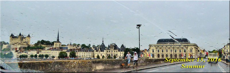 Saumur in the rain