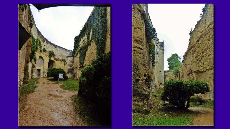Château de Brézé, photos taken in the moat (in the rain)
