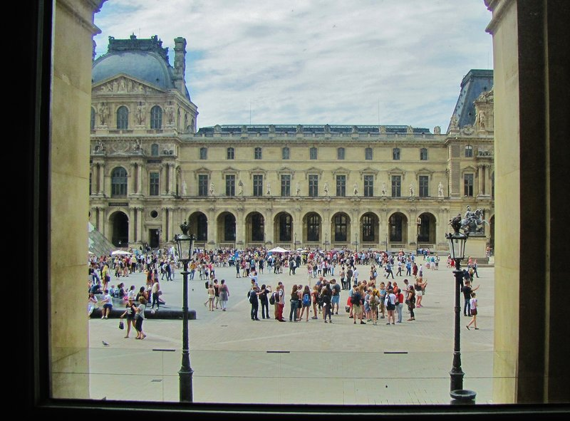 View out the window at the Louvre