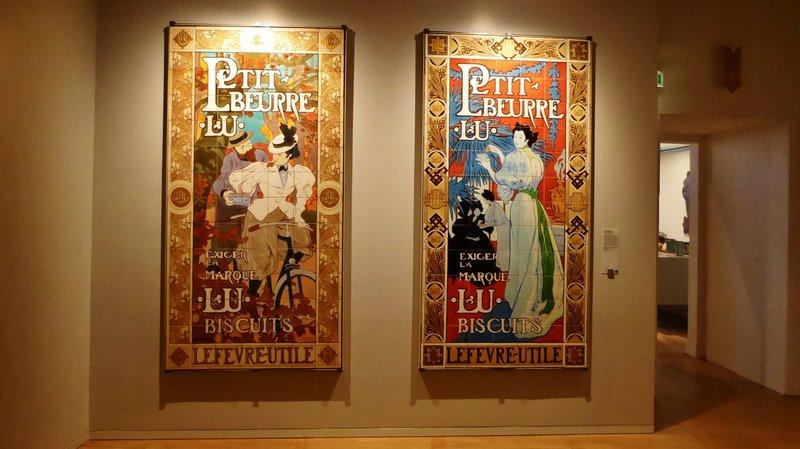 LU Biscuit advertisements at the Château des ducs de Bretagne