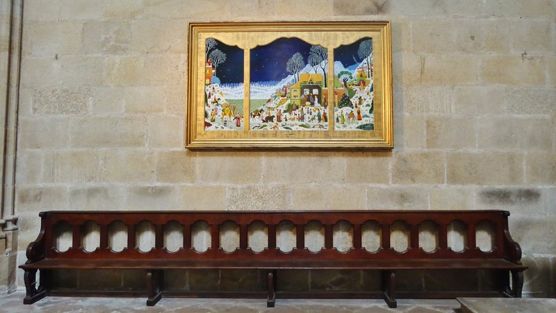 Triptych of the Nativity by Alain Thomas in the Chapel of the Sacred Heart