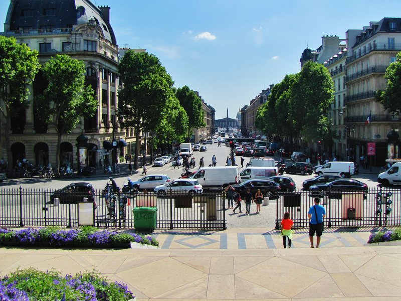 View from the steps of The Madeleine