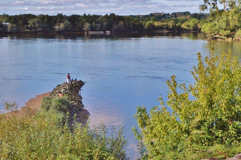 Lone Fisherman along the Loire River