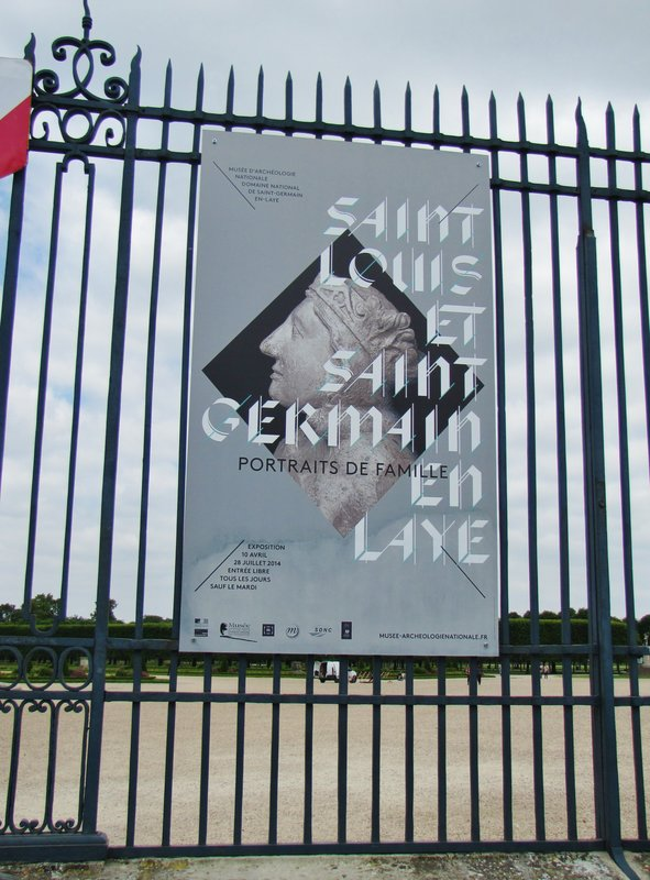 Poster on the Fence at Château de Saint-Germain-en-Laye