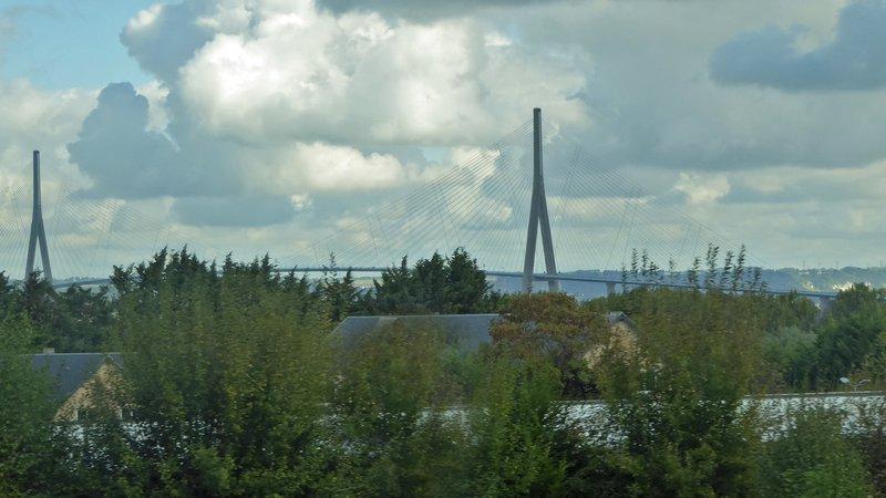 The Pont de Normandie to Le Havre