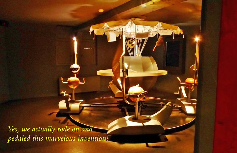 """Erik Satie's self-propelled carousel that plays his """"Le Picadilly."""""""