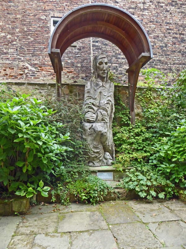 Fenwick Lawson sculpture of Saint Cuthbert at Durham Museum and Heritage Centre