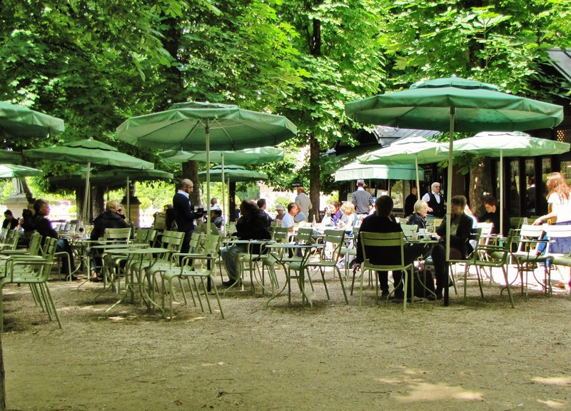 Café in the Luxembourg Gardens