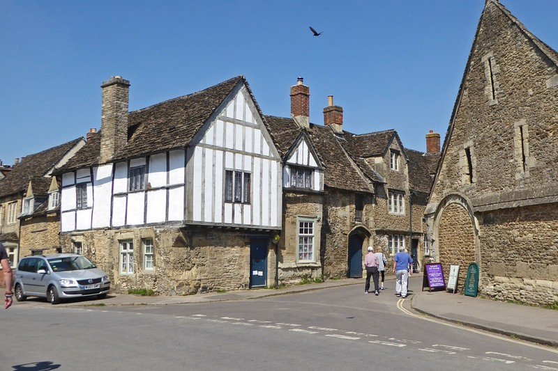 Corner of High and East Streets - Tithe Barn on Left