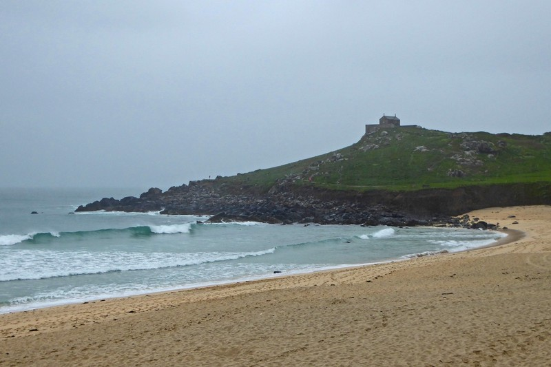 Porthmeor Beach in front of the Tate St. Ives Gallery