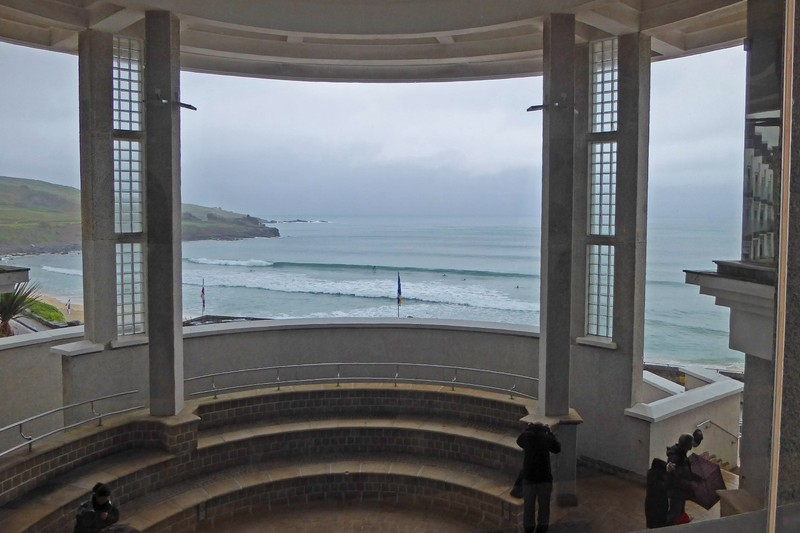 View from the Tate St. Ives to Porthmeor Beach