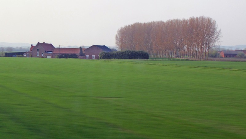 View from the Eurostar between London and Paris