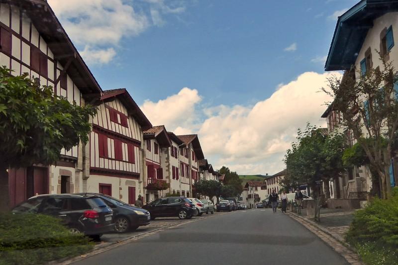 Main street in Ainhoa, rue Principale