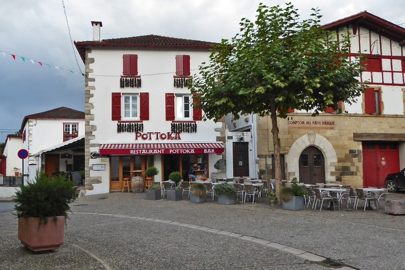 Pottoka, the bar-restaurant where we had breakfast in Espelette