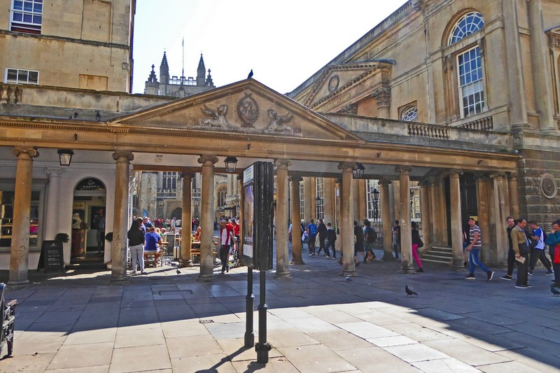 The Stall Street Entrance to the Roman Baths and Bath Abbey