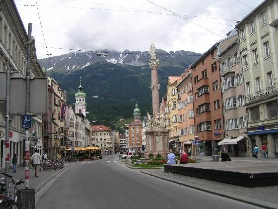 Downtown Innsbruck in the Tyrol