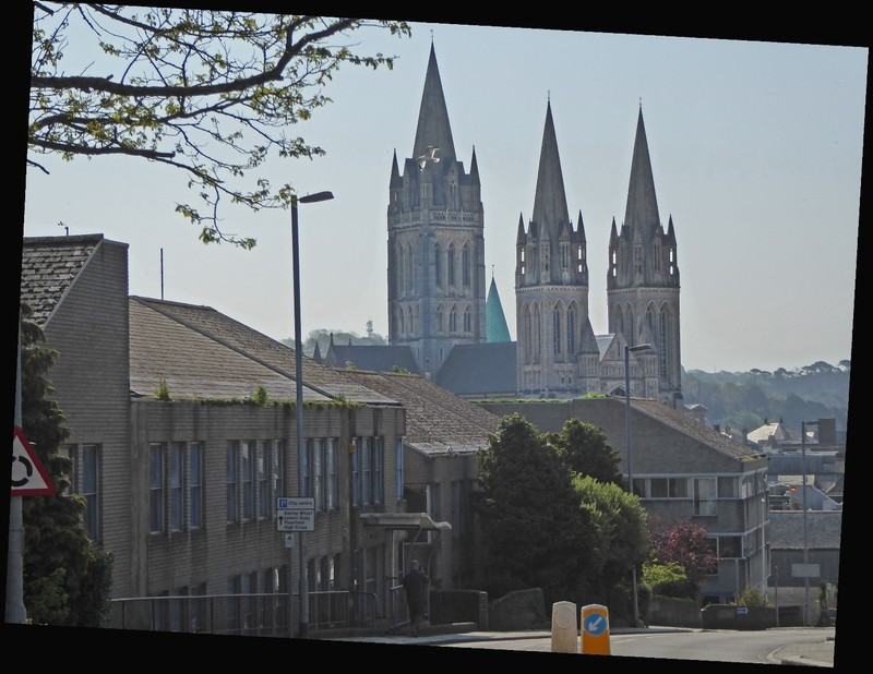 Truro Cathedral from near the Pydar Street Car Park