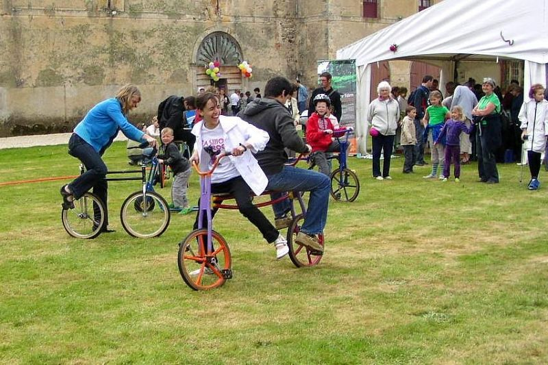 Château de Sully -- activities (check the bicycle) near Beaune