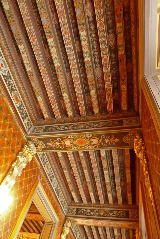 Ornate ceiling at the Château de Cheverny