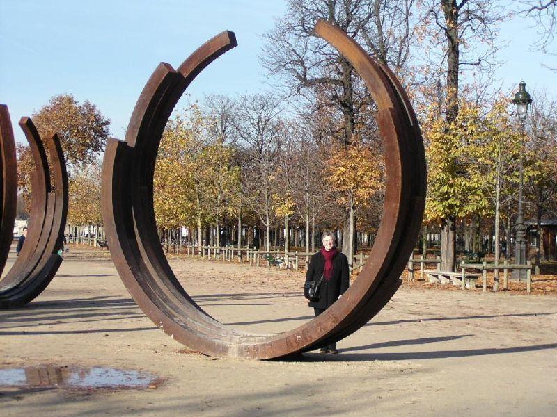 Tuileries Gardens, me with a sculpture - Paris
