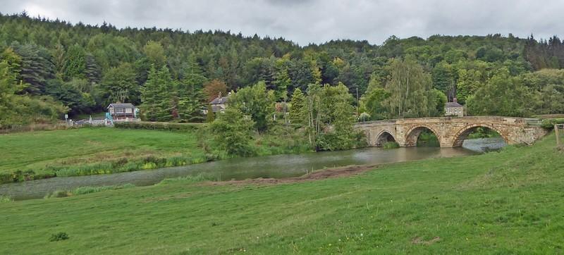 Bridge over the river Derwent near Kirkham Priory