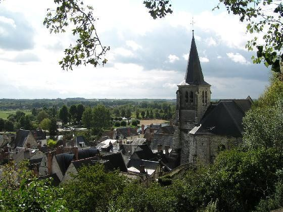 View over Montrichard and the countryside - Montrichard