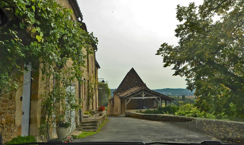 Our gite, Le Petit Ormeau, with covered parking and a fabulous view