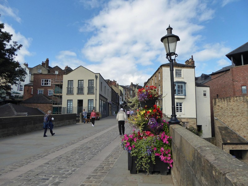 Elvet Bridge in Durham, UK