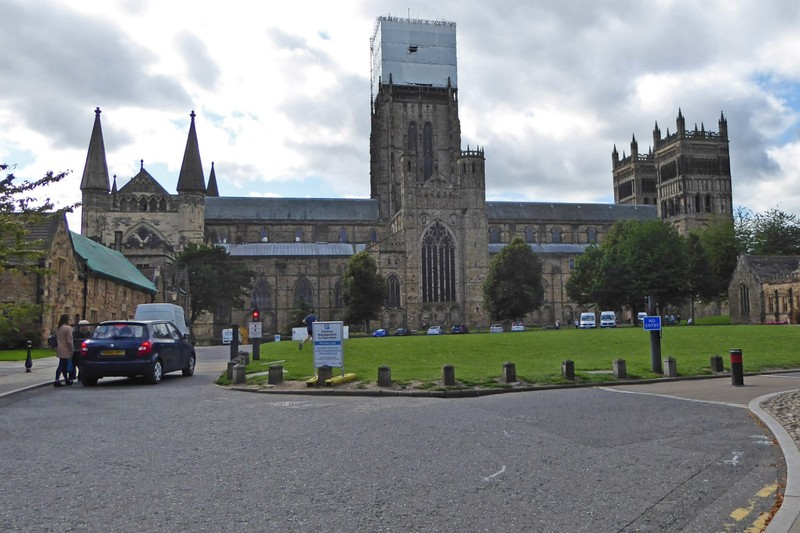 Durham Cathedral with the central tower under wraps