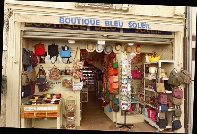 Bleu Soleil, a shop in Rocamadour that reminded me of Beausoleil, our name