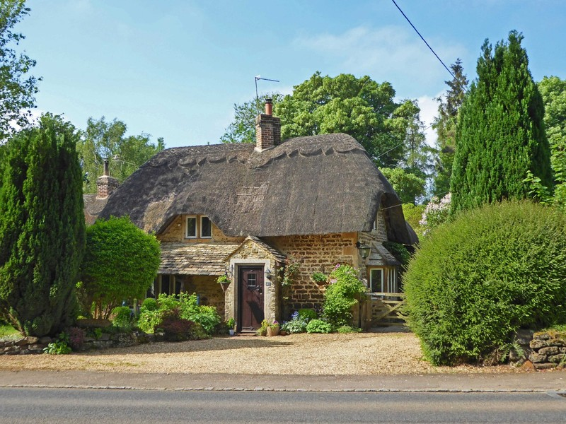 Thatched house, Sandy Lane, County Wiltshire