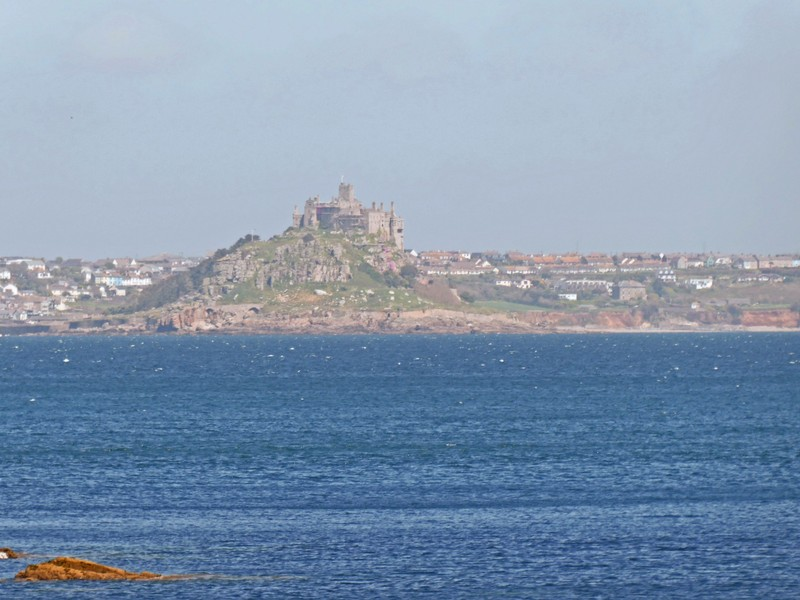Saint Michael's Mount from the Wharf at Mousehole in Cornwall