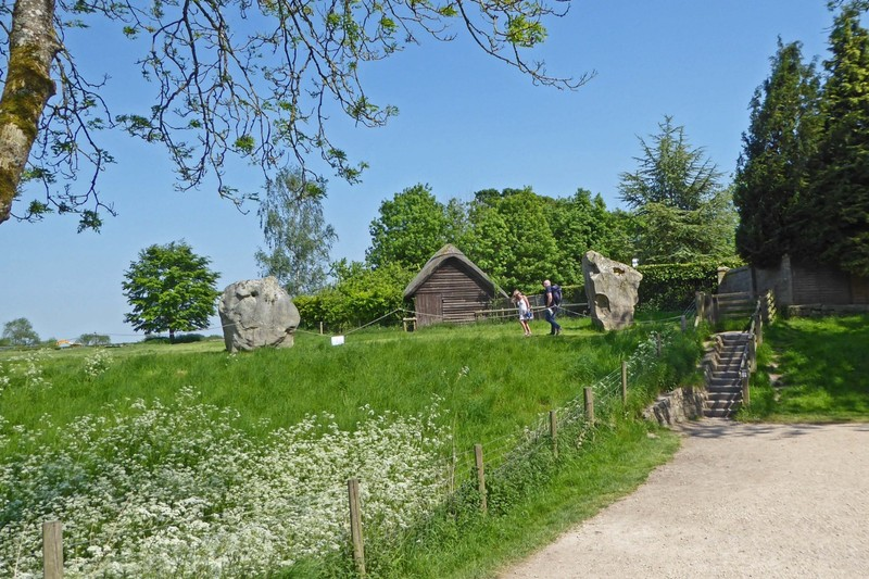 Steps up to a walk through the Stone Circle