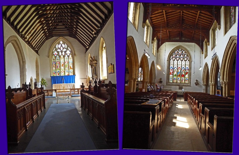 Interior of St. Edward's Church facing either direction