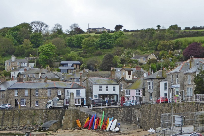 Harbor scene in Mousehole, Cornwall