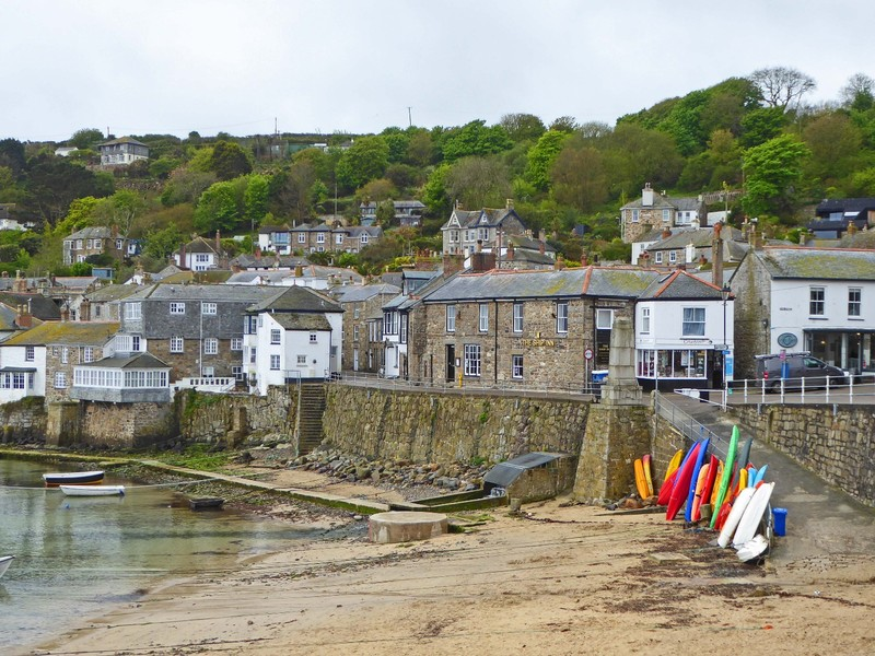 Harbor scene at Mousehole in Cornwall