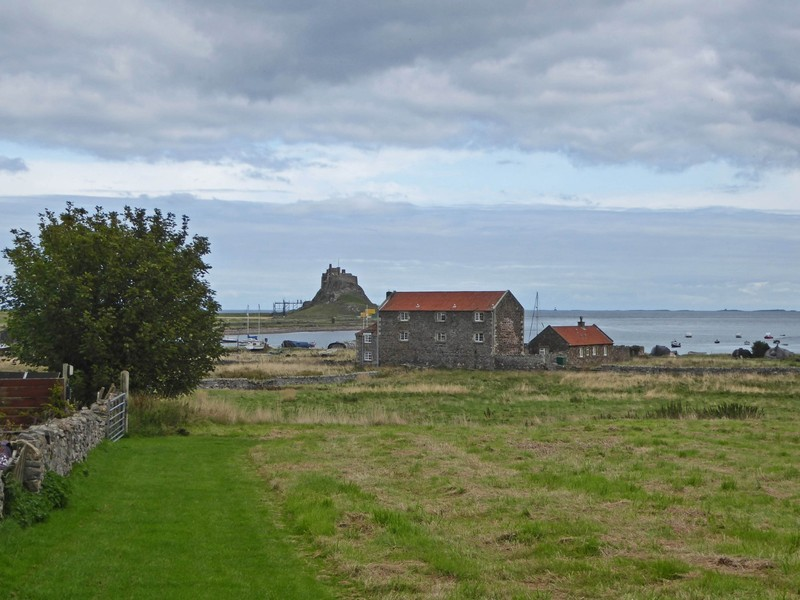 View of the Lindisfarne Castle from the Crown and Anchor