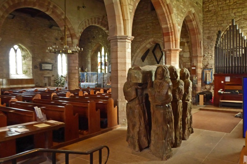 """Fenwick Lawson sculpture """"The Journey"""" in the Parish Church of St. Mary the Virgin"""