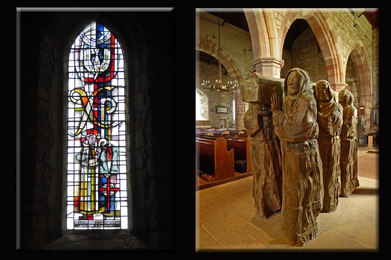 """Stained glass and Fenwick Lawson's """"The Journey"""" in the Church of Saint Mary the Virgin"""