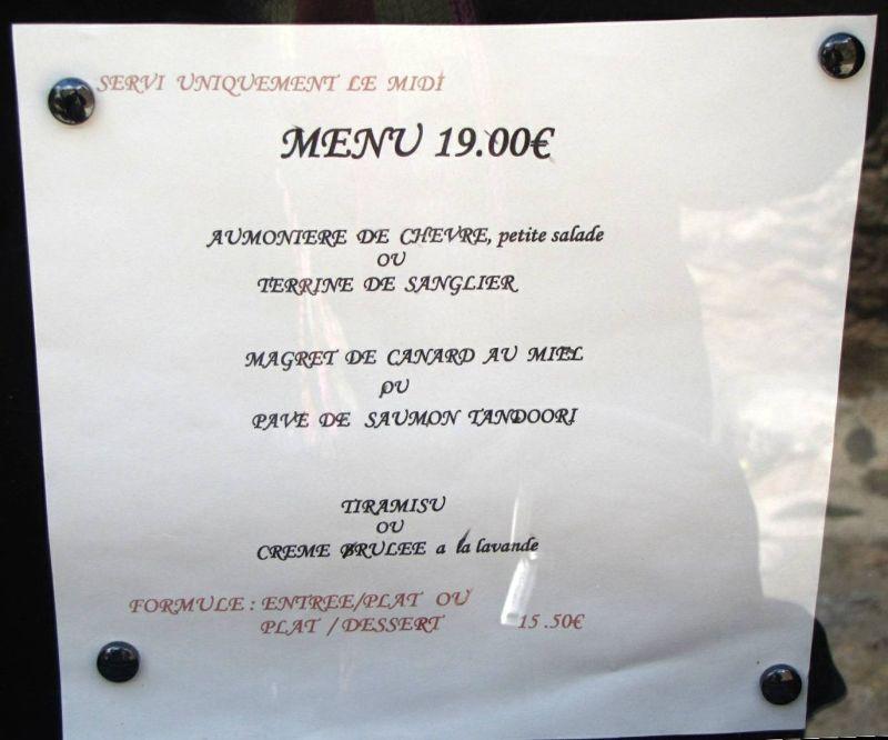 Menu D'ici et d'Ailleurs Restaurant in Castelnou