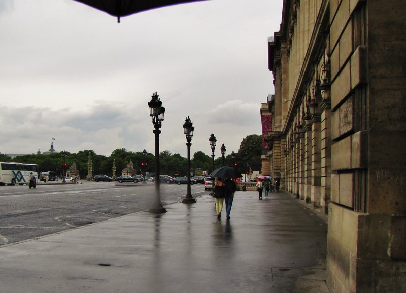 Walking around the Place de la Concorde