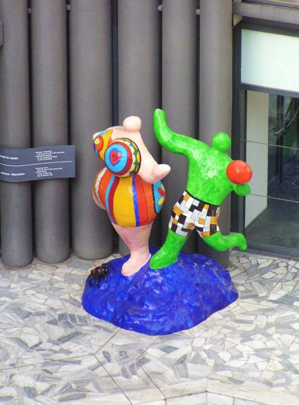 Remind you of Paris? - Looks like the Niki de Saint Phalle sculptures at Pl. Stravinsky