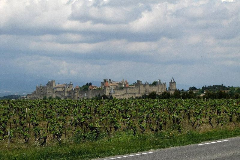 La Cité at Carcassonne seen while driving to Saint-Hilaire