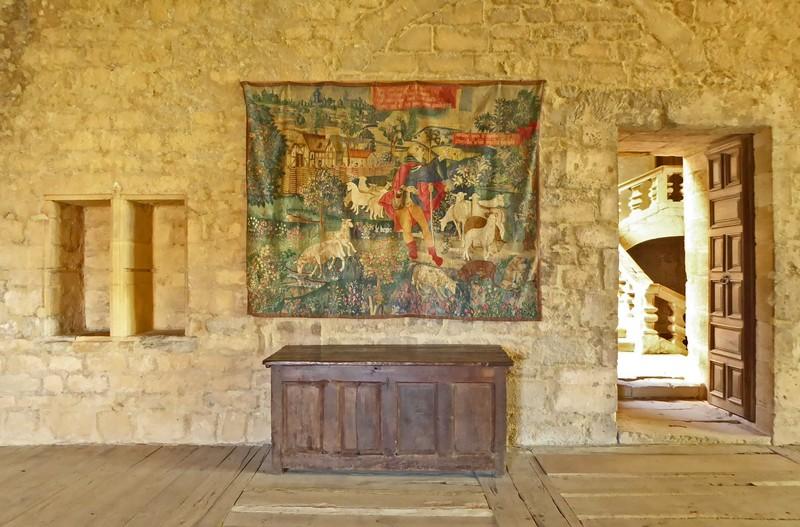 Tapestry in Château de Beynac
